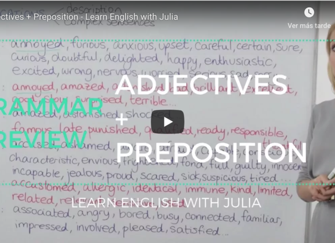 Adjectives with preposition Learn English with Julia