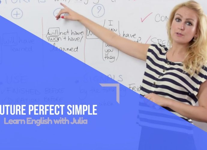 Future Perfect Simple Learn English with julia