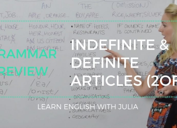 Indefinite and Definite Articles in English Learn English with julia