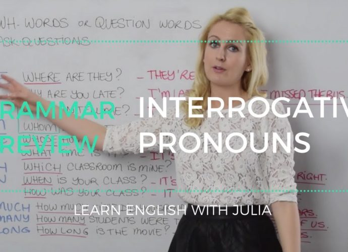 Interrogative Pronouns English - (Question Words) Learn English with Julia