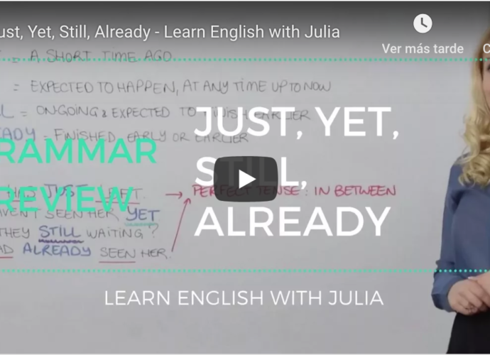 Just Yet Still Already Learn English with Julia