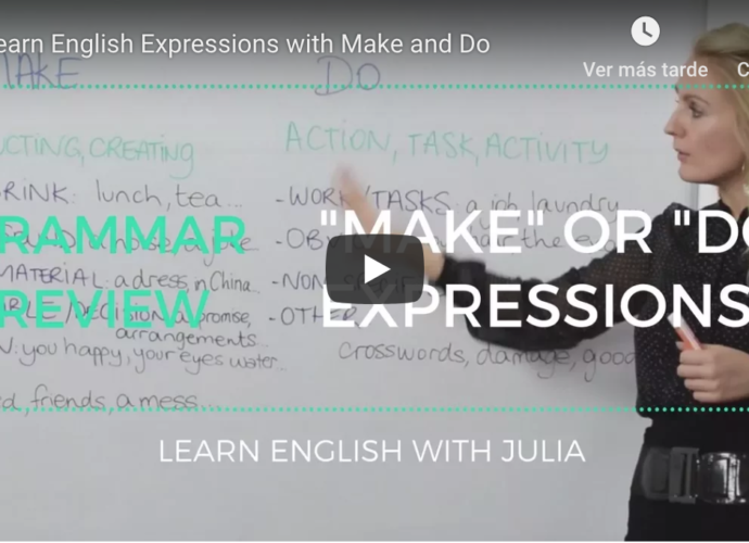 Make or Do Expressions Learn English with Julia