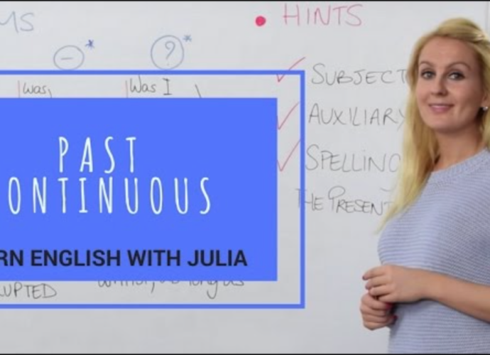 Past Continuous or Past Progressive Learn English with Julia