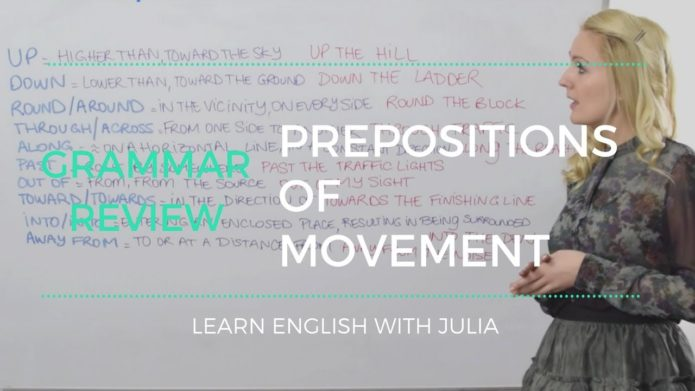 Prepositions of Movement - English Grammar Lesson with Julia
