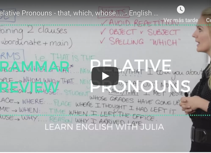 Relative pronouns & Relative clauses Learn english with julia