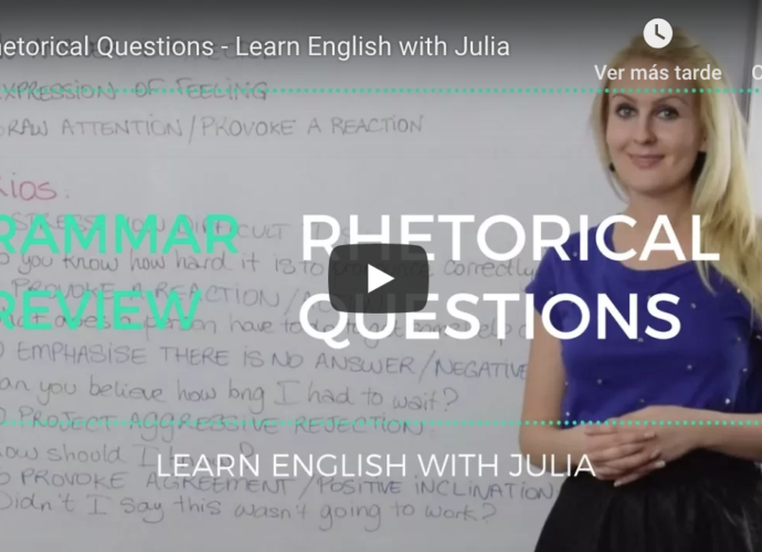 Rhetorical Questions Learn English with Julia