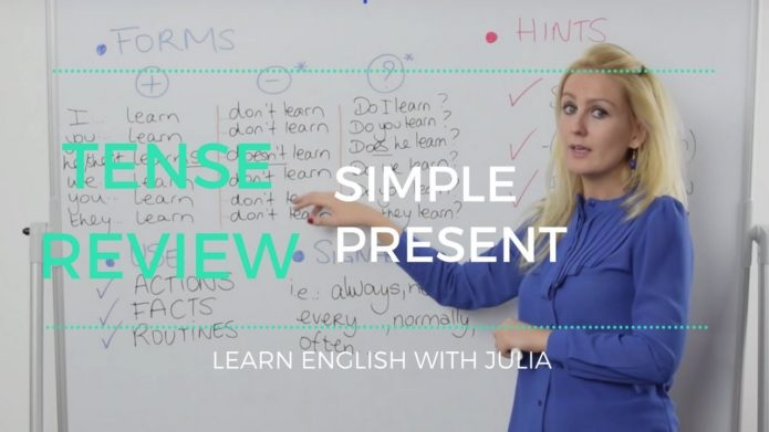 Simple Present - Learn English with Julia
