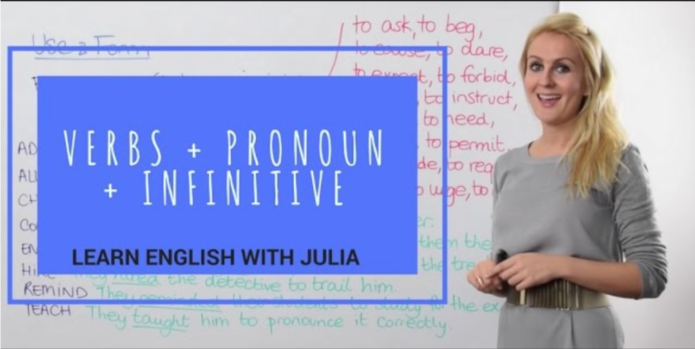 Verbs + Pronoun + Infinitive Learn English with Julia