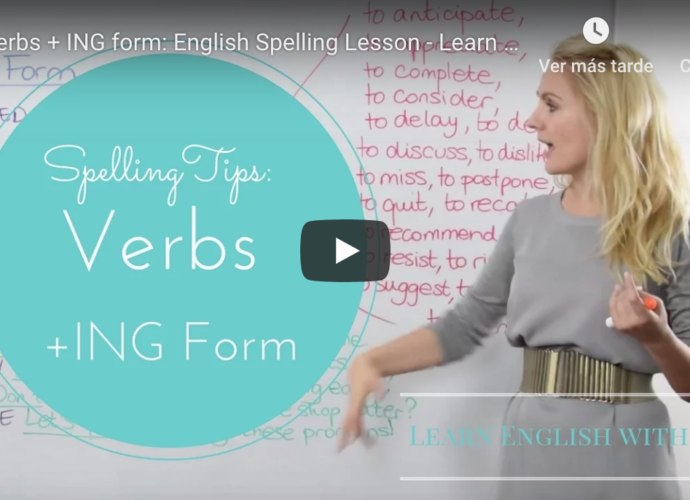 Verbs + -ing Form Learn English with Julia