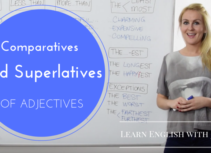 comparatives and superlatives of adjectives learn english with julia