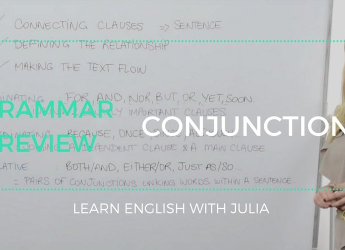 conjunctions learn english with julia