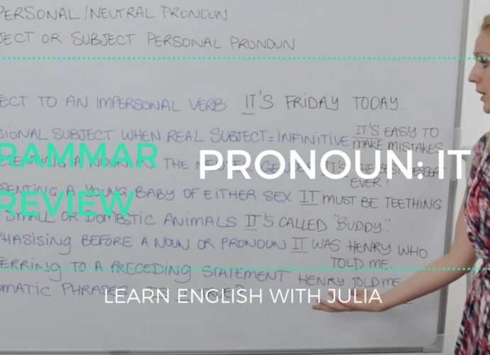 impersonal Pronoun 'It' - Learn English with Julia