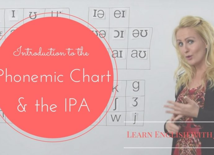 introduction to phonemic chart and IPA learn english with julia