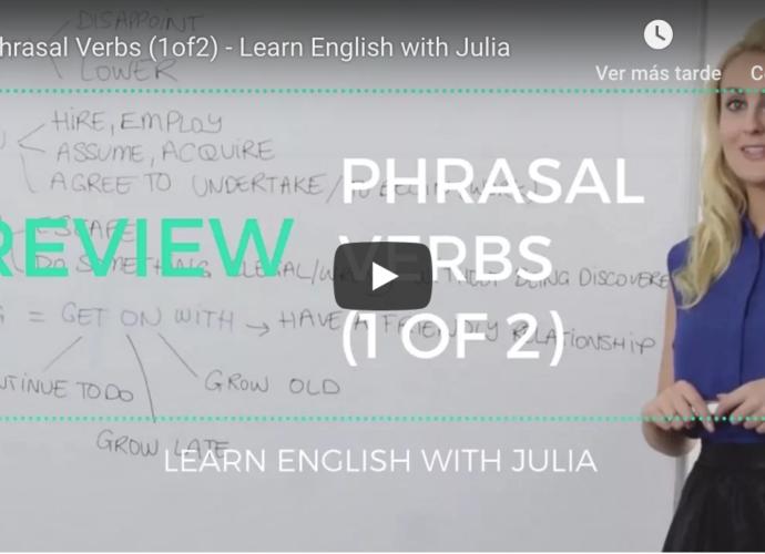 phrasal verbs 1 learn english with julia