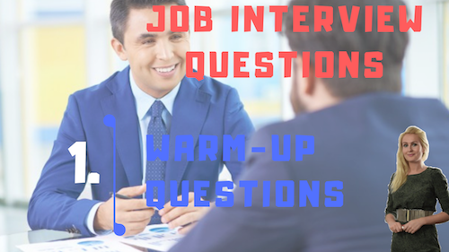 Job Interview Tips Part 1 warm-up questions learn english with julia