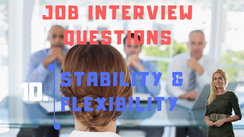 Job Interview Tips Part 10 Stability and Flexibility Learn English with Julia