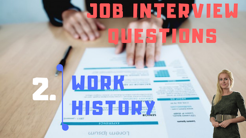 Job interview Tips Part 2 work history Learn English with Julia