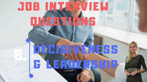 Job Interview Tips Part 8 Decisiveness and Leadership Learn English with Julia